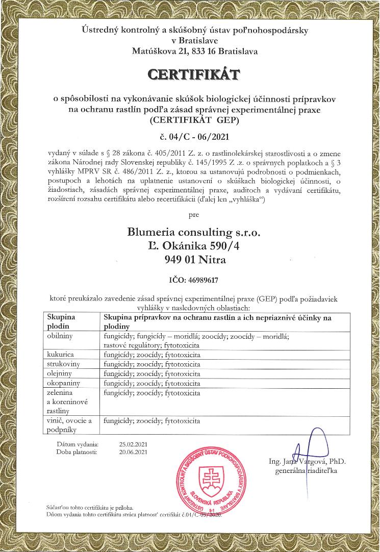 gep certifikat